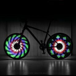 Lumière roue vélo